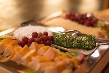 Spinnerei Brunchbuffet Käse und Trauben