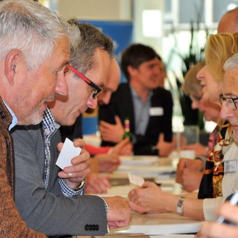Get-together, Tische, Gespräche, 11.Fachkonferenz, Handelsverband
