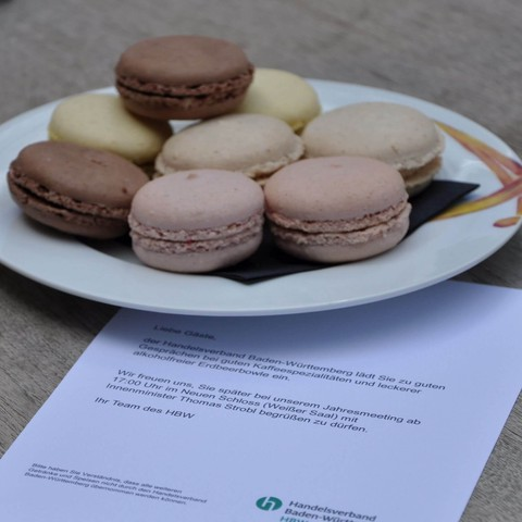 Macarons, Snacks, Jahresmeeting, 2018