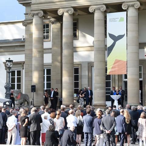 Vortrag, Schloss Rosenstein, Politisches Sommerfest, Handelsverband