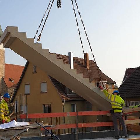treppe wird eingesetzt