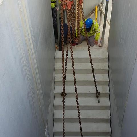treppe eingelassen