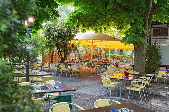 terrassen, garten, gastgarten