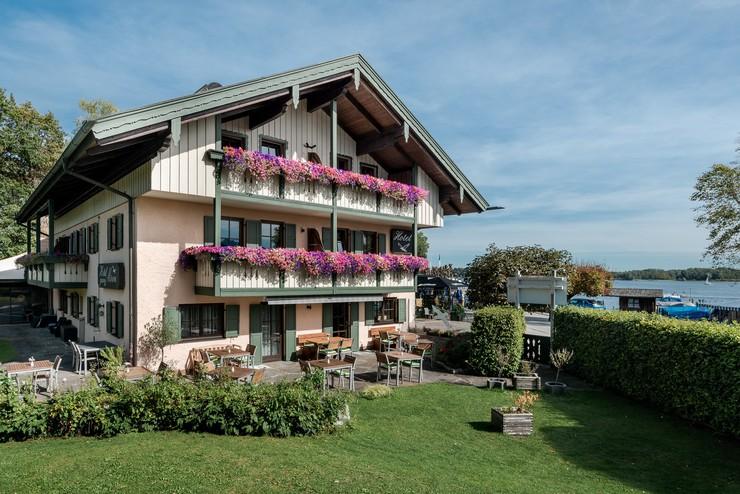 Hotel Möwe Chiemsee Begrüßung Prien Seeblick