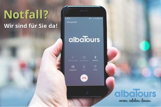 albaTours ist telefonisch erreichbar