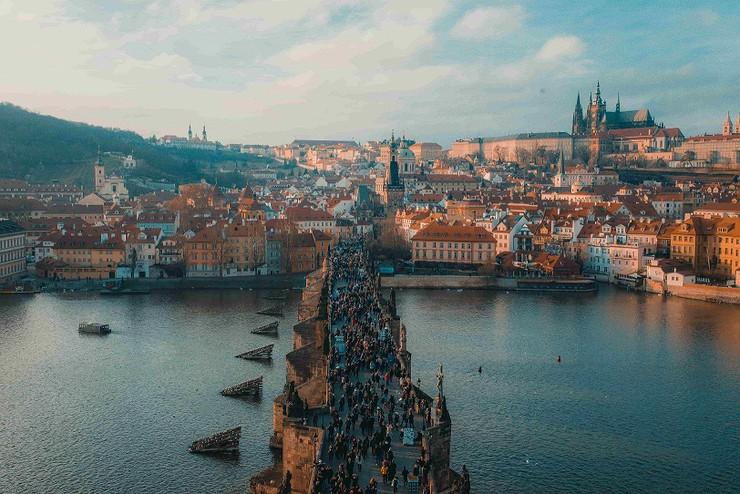 Klassenfahrt Prag Karlsbrücke
