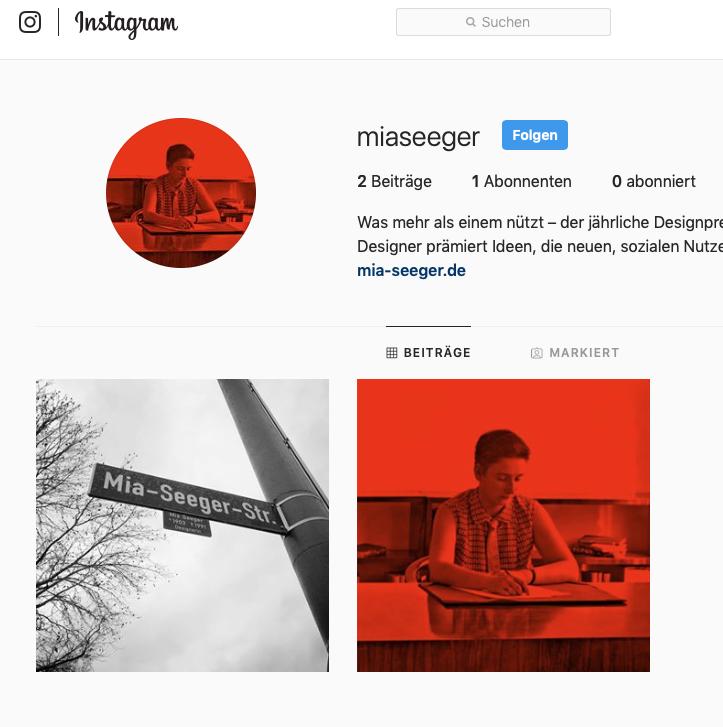 Mia Seeger und Instagram