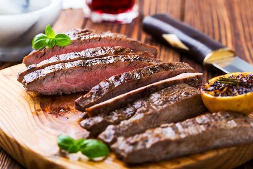 Steak, geschnitten