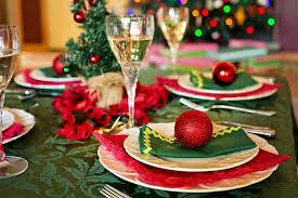 Weihnachten, aufgetischt, Tisch, dekoriert