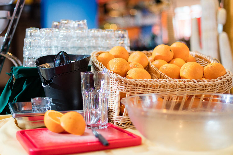 Brunch, Orangensaft, Orangen